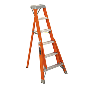 7' Fiberglass Tripod Ladder 300 Lb (Ft1A07)