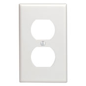 Duplex Receptacle Single-Gang Electrical Plate - White