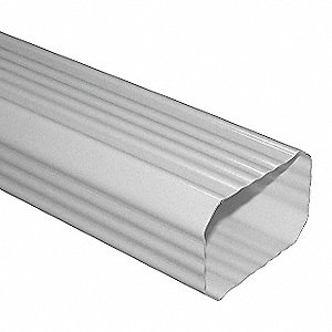 Skyline Downspout 3x4 x 10' White Painted Steel