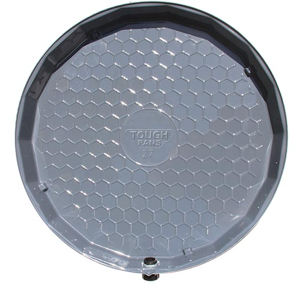 """Vizco 22"""" Plastic Water Heater Pan with PVC Fitting (Vp23-P)"""