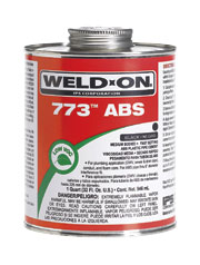 Weld-On 773™ Black Solvent Cement, 1 Pint Can with Applicator Cap, -4 Deg F Flash Point, Medium Bodied, Fast Setting