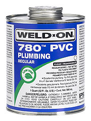 Weld-On 780™ 780™ Solvent Cement, 1 Quart, Can with Applicator Cap, Clear, Liquid, Regular