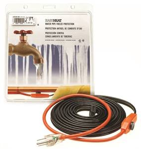 Easy Heat AHB Pipe Heating Cable With Thermostat, 1 in, 30 ft, 120 VAC, 1.8 A, 211 W