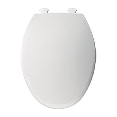 Bemis Elongated Plastic Toilet Seat, Easy Clean Hinge - White