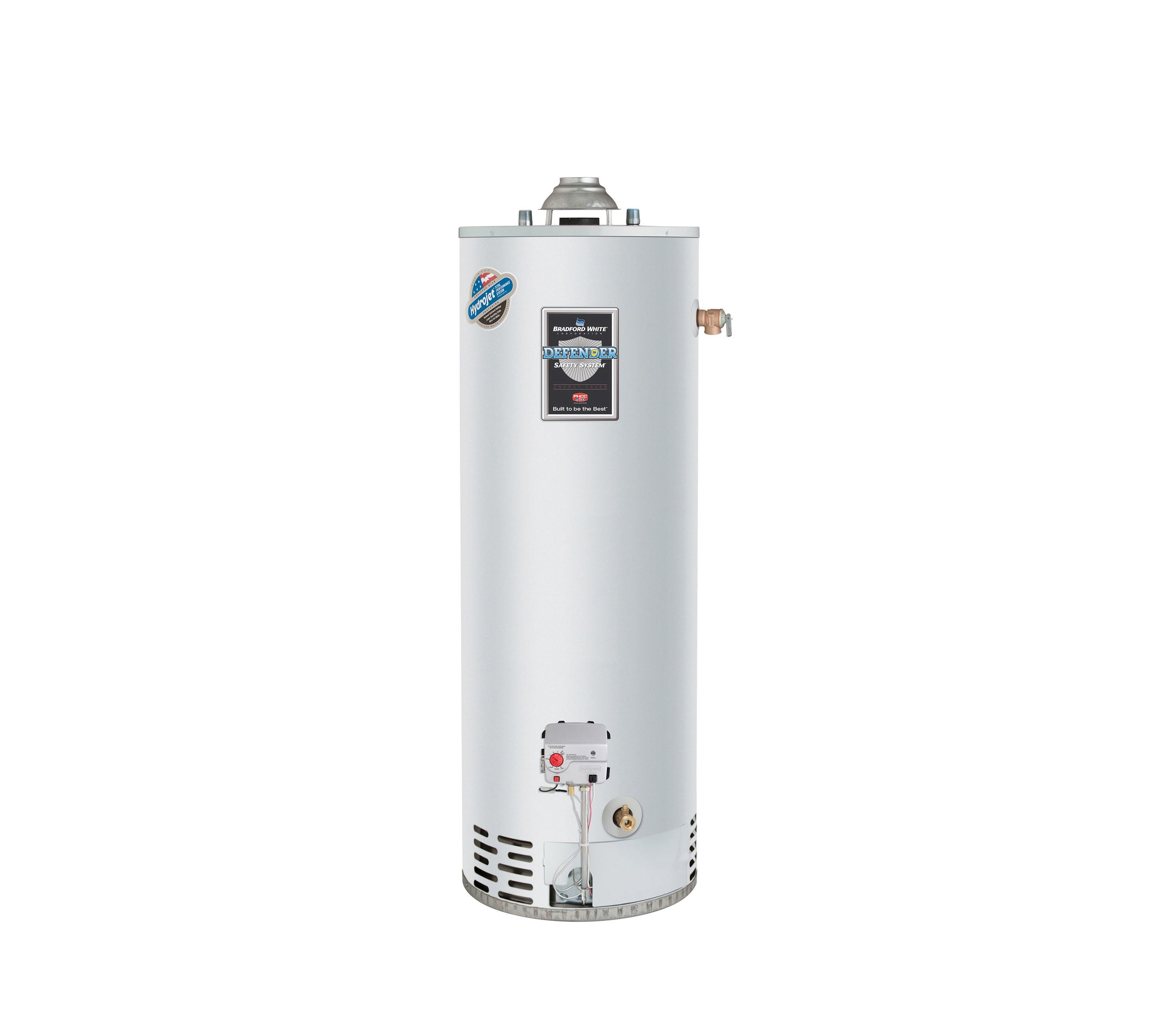 Bradford White RG250T6N 50 Gal Natural Gas Atmospheric Vent Energy Saver Water Heater, 40K BTU