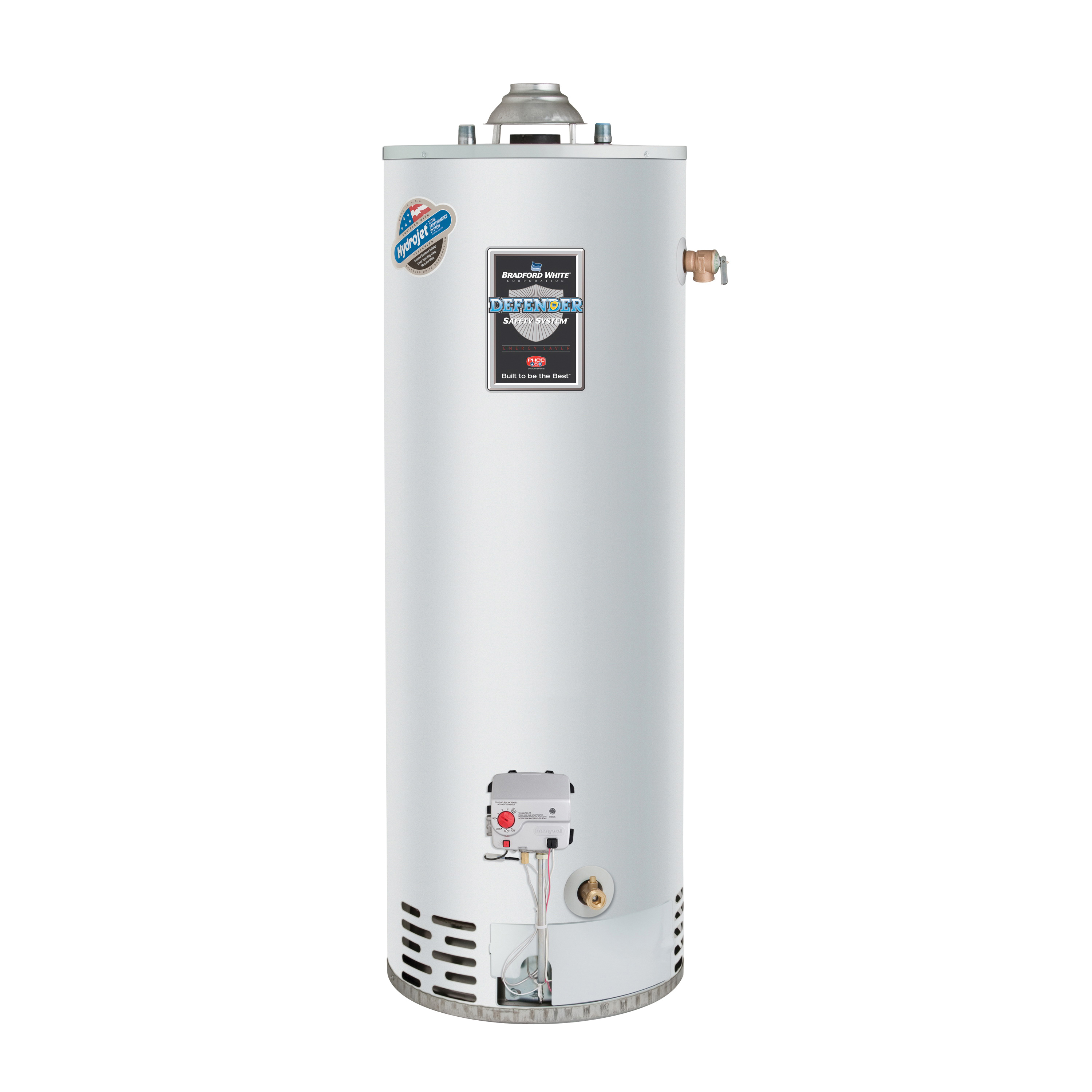 Bradford White RG240T6N 40 Gal Defender Safety System Atmospheric Vent Energy Saver Natural Gas Tall Water Heater, 40K BTU