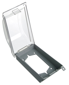 Thomas & Betts E9UVCRN2 Non-Metallic While-in-Use Weatherproof Electrical Box Cover, 6-1/2 in L X 3-25/64 in W, Clear