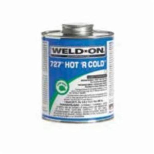 Weld-On 727™, Hot 'R Cold™ 727™ Hot 'R Cold™ Solvent Cement, 1 Quart, Can with Applicator Cap, Clear, Liquid, Medium