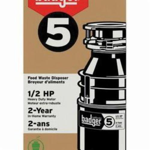 InSinkErator 1/2 HP Garbage Disposer with Cord - 2 Yr Warranty