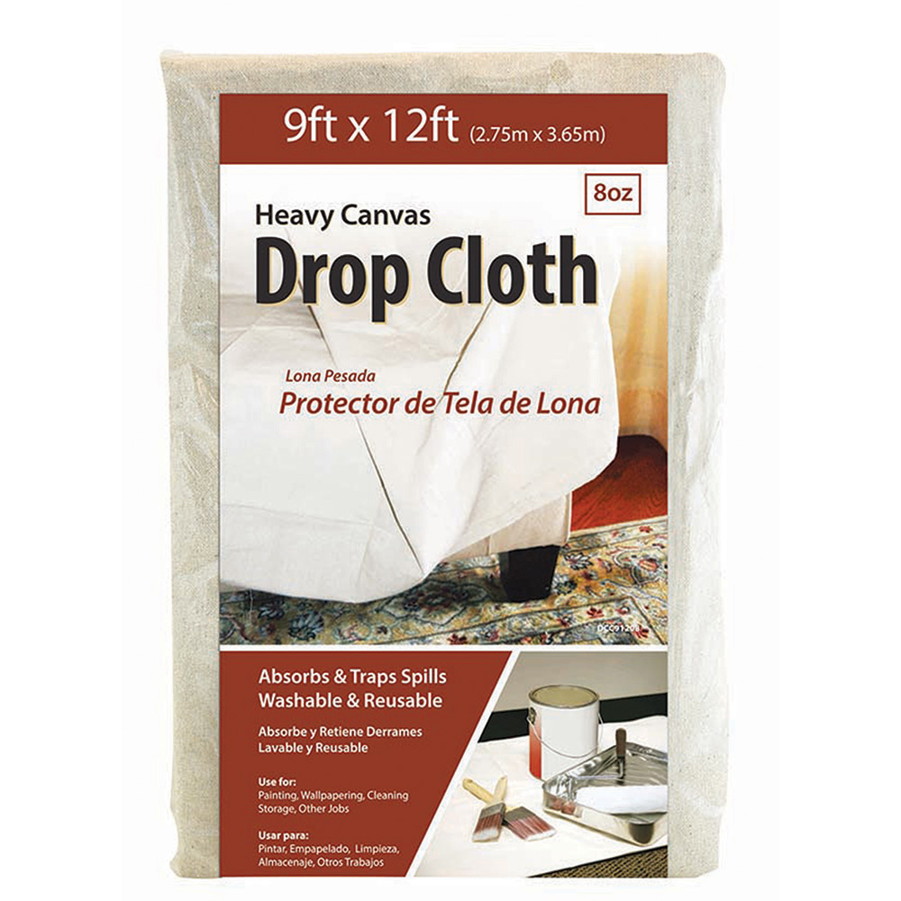 9' X 12' CANVAS DROP CLOTH (G02011)