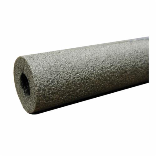 "Jones Stephens Pipe Insulation, 5/8"" ID Pipe, 1/2"" Thick, 6' L, Black, Polyethylene, Closed Cell, Flexible, Self-Sealing"