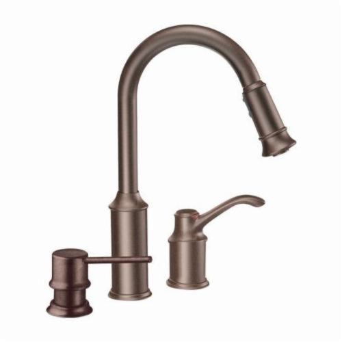 GTS | Moen Kitchen Faucet Pullout Oil Rub Bronze Aberdeen