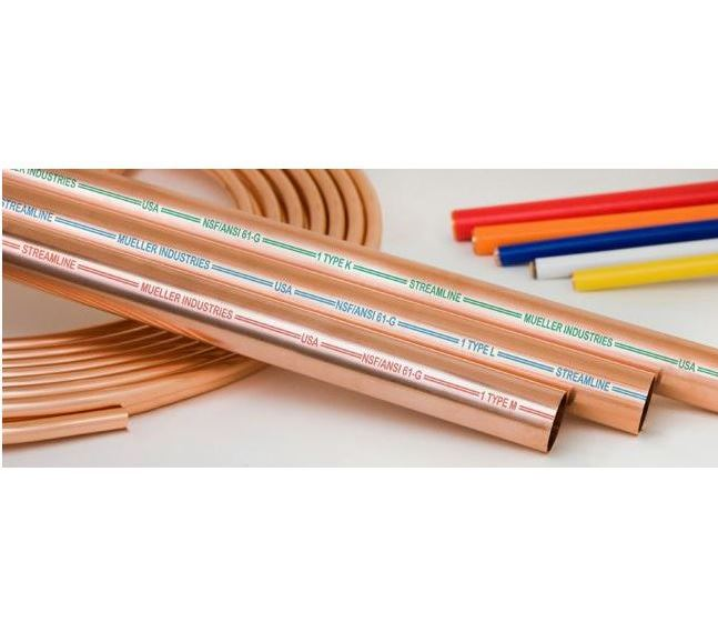 "1/2"" M x 10' Hard Copper Pipe"