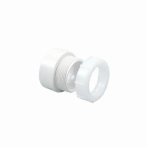 """1-1/2"""" x 1-1/2"""" PVC-DWV Female Adapter with Plastic Nut and Washer, Trap, Hub x Slip Joint"""