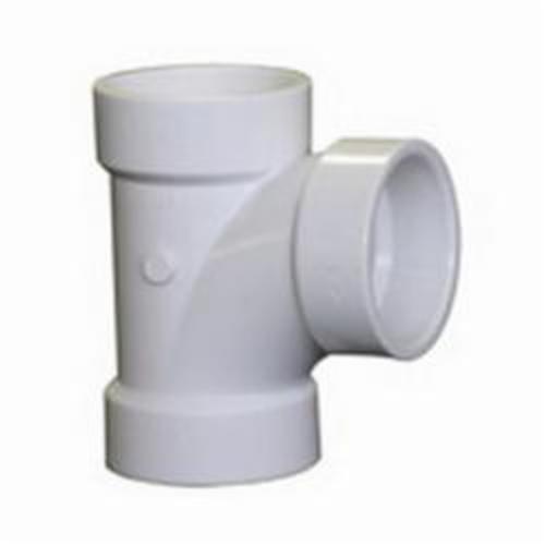 """2"""" x 1-1/2"""" x 1-1/2"""" PVC-DWV Sanitary Tee, Reducing, Hub x Hub x Hub"""