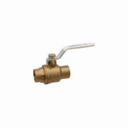"Nibco Ball Valve, 1/2"", C x C, 600 PSI Non-Shock CWP, Lead-Free, Forged Brass Body, Stainless Steel/Chrome Plated Brass Ball, 1/4 Turn, Lever Handle, Full Port, 2-Piece"