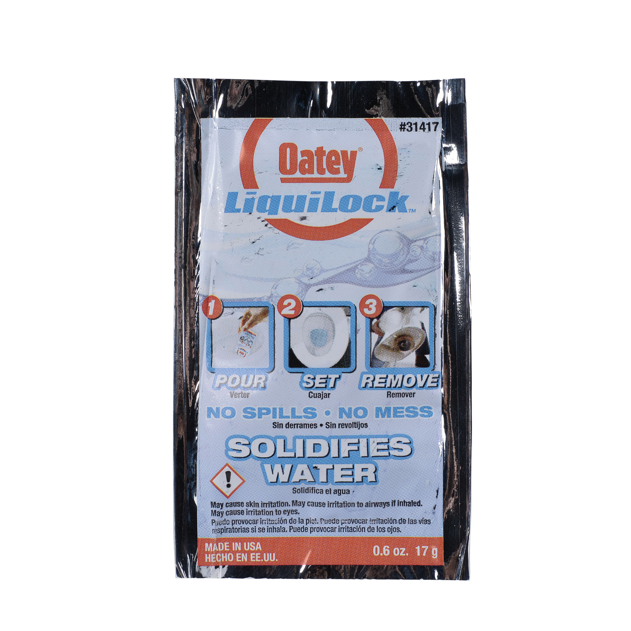 Oatey Liquilock Spill Gel Toilet Water Solidifier