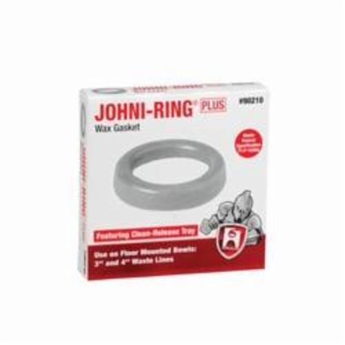 "Hercules Johni-Ring® Wax Ring with Clean-Release Tray, 3"" or 4"", 0.82 to 0.86 Gravity, Golden, High Grade Petroleum Wax, Standard, Waste Line"