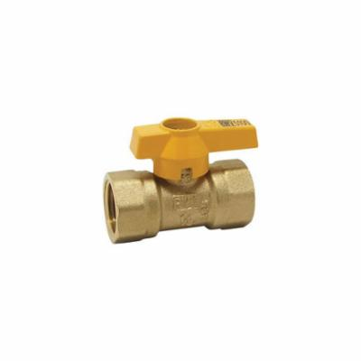 """Red-White Valve 3/4"""" x 3/4"""" Brass Ball Valve, Lever Handle, 1-Piece, Standard, FPT x FPT, Chrome Plated, 175 PSI"""