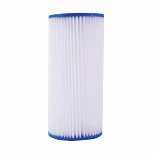 "Watts 10"" Full Flow Pleated Filter, 20 Micro"